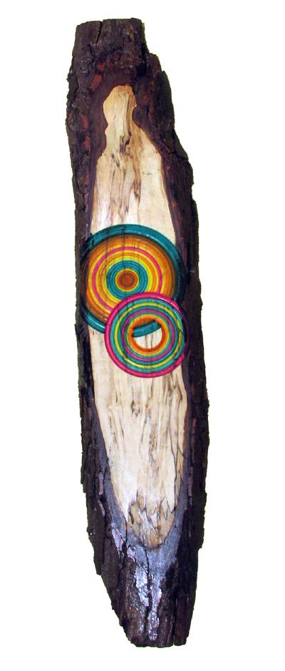 Cercle écorce - Art mural en bois tourné. #391