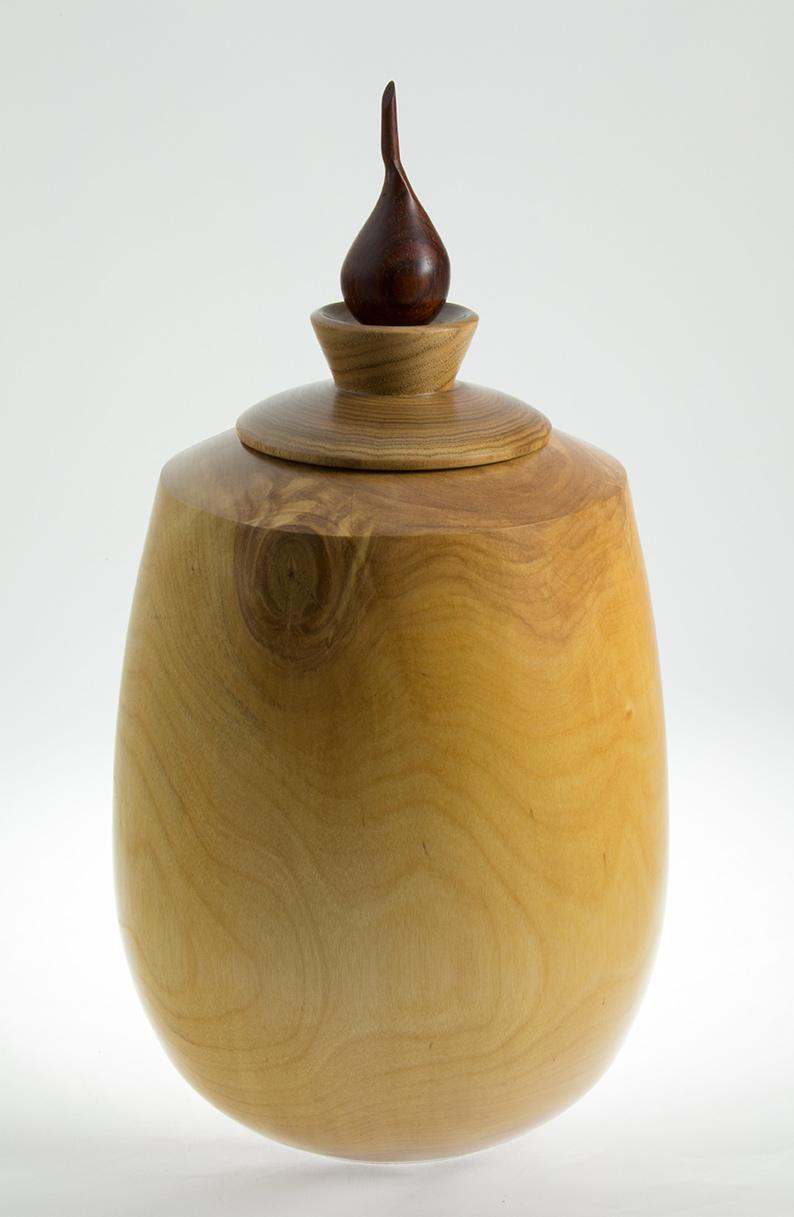 funeral urn, vase, white birch