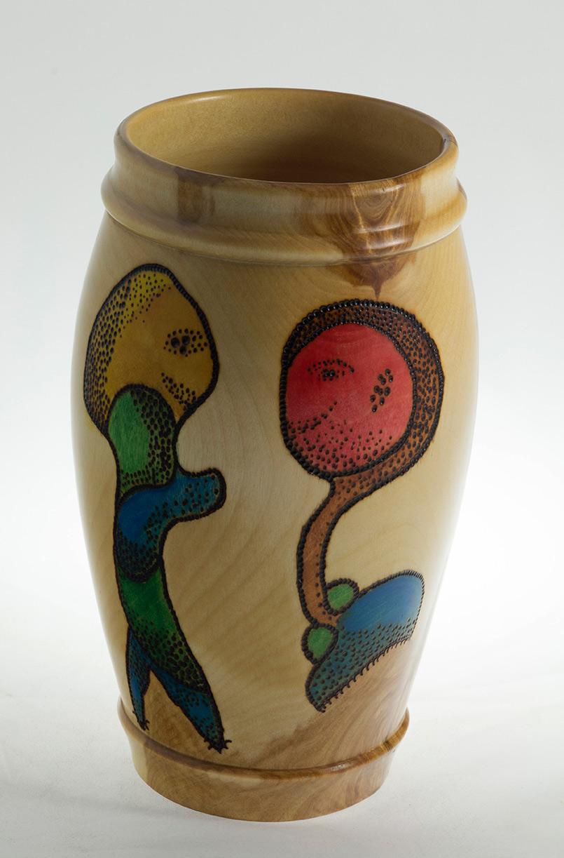 Rencontre - Vases décoratifs en bois tourné. Bouleau. #507