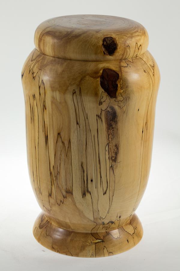 Urne funéraire en bois, #53-Bouleau Coti 6.25 x 10.25po.