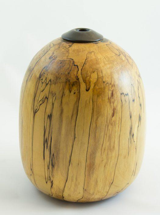 Vases décoratifs en bois tourné. Érable Coti. #293