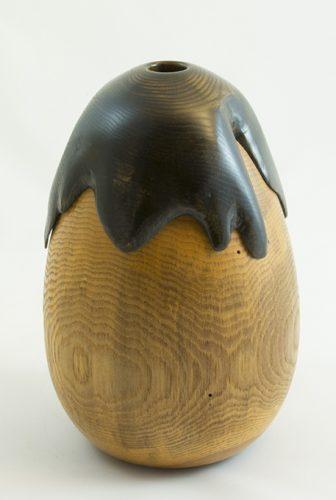 Aubergine - Vases décoratifs en bois tourné. Frêne. #295