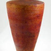 Vase en bois bouleau - couleur - #694- 7x12po.
