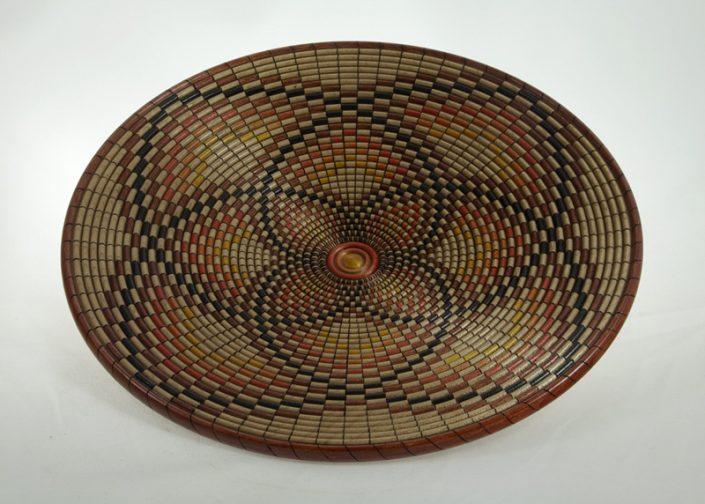 Assiette en bois illusion de panier - #717-Erable 9.75x1po.