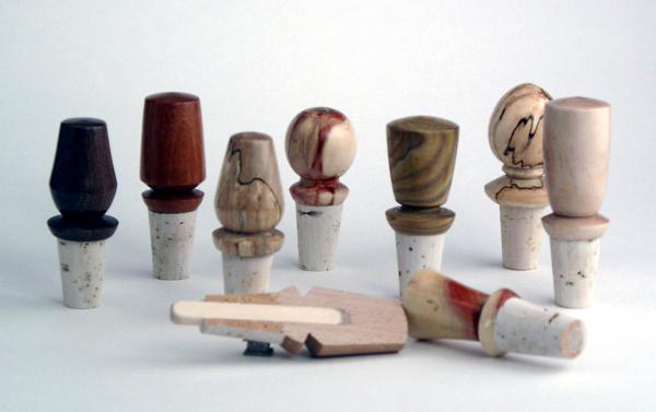 Bouchons différents essence de bois