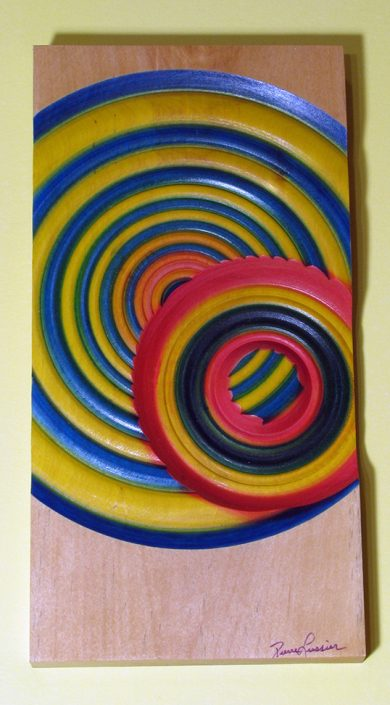 Cercle bouleau - Art mural en bois tourné. #395