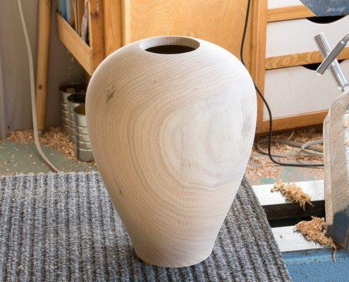 urne en bois chêne