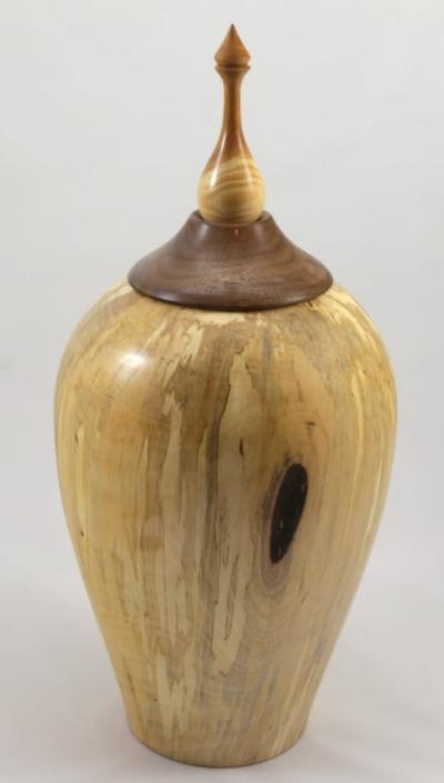 Urne funéraire en bois - #108a-Bouleau Coti 7 x 15.5po.