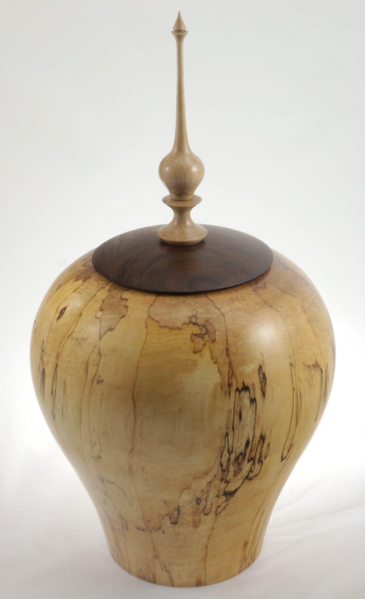Urne funéraire en bois - #113-Érable Coti 9.25 x 16.5po.