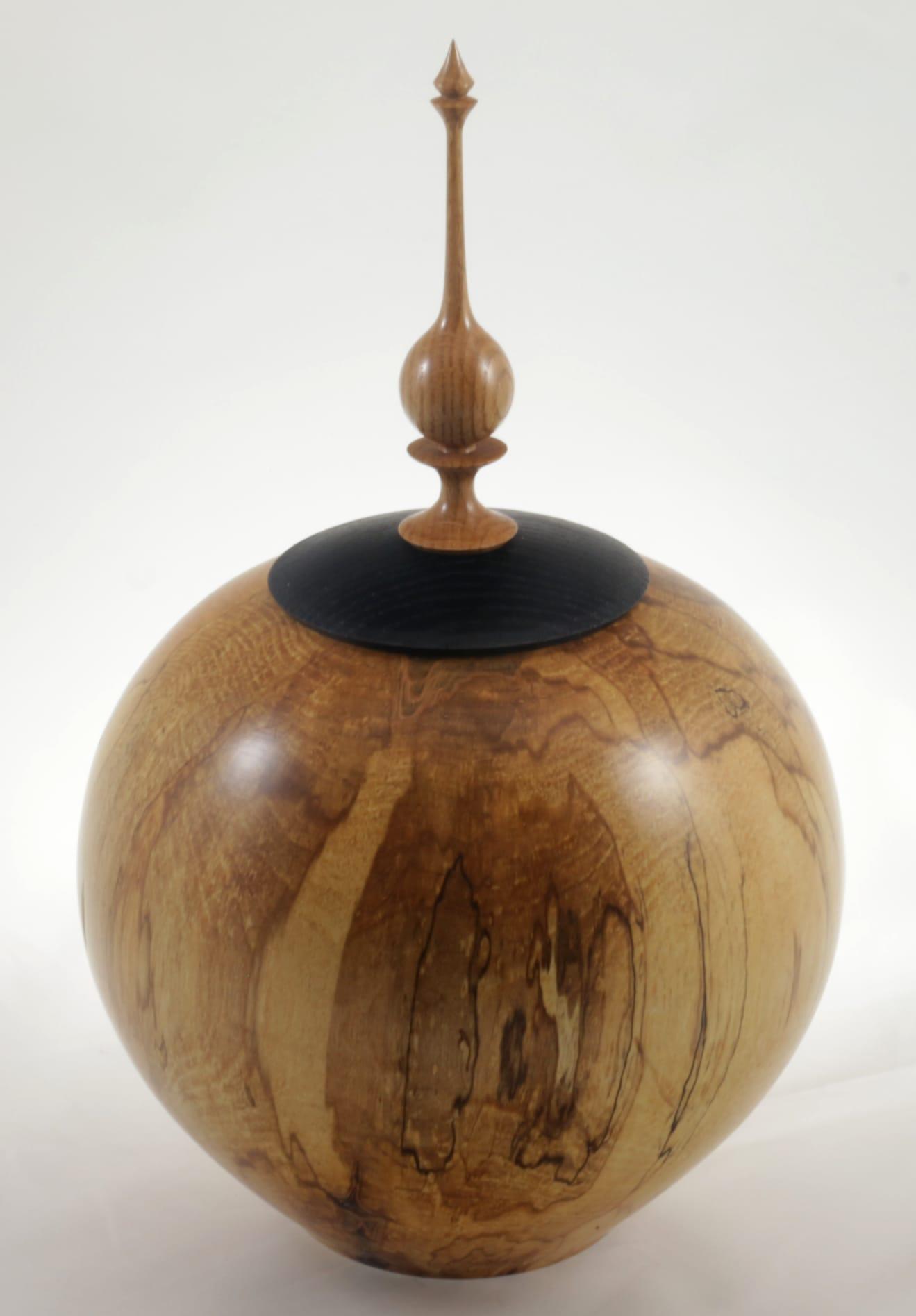 Urne funéraire en bois - #114a-Érable Coti 9 x 13.75po.