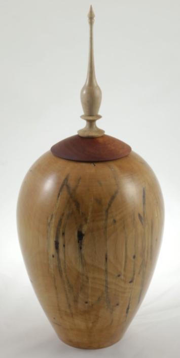 Urne funéraire en bois - #115a-Bouleau Coti 7.75 x 17po.